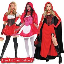 Ladies Little Red Riding Hood Fancy Dress Outfit Storybook Teachers Book Week