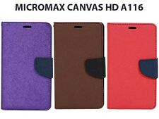 Synthetic Leather Flip Case Cover For Micromax Canvas HD A116