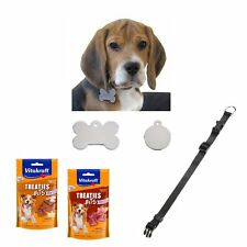 Set regalo per cani - targhetta Collare con incisione + collare + Snack per cani