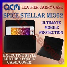 ACM-HORIZONTAL LEATHER CARRY CASE for SPICE STELLAR MI362 MOBILE POUCH COVER NEW