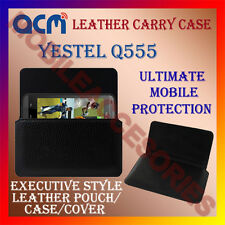 ACM-HORIZONTAL LEATHER CARRY CASE for YESTEL Q555 MOBILE POUCH COVER HOLDER NEW