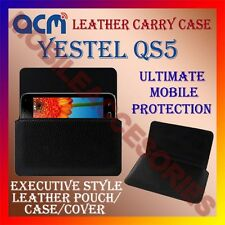 ACM-HORIZONTAL LEATHER CARRY CASE for YESTEL QS5 MOBILE POUCH COVER HOLDER NEW