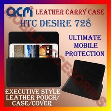 ACM-HORIZONTAL LEATHER CARRY CASE for HTC DESIRE 728 MOBILE COVER POUCH HOLDER