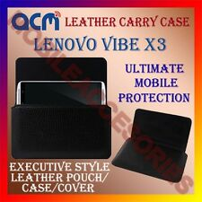 ACM-HORIZONTAL LEATHER CARRY CASE for LENOVO VIBE X3 MOBILE COVER POUCH HOLDER