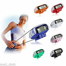 Pedometer Walking Step Run Distance Calorie Counter Fitness Belt Clip