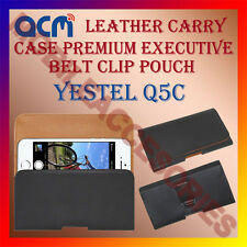 ACM-BELT CASE for YESTEL Q5C MOBILE LEATHER HOLSTER POUCH HOLDER COVER PROTECT