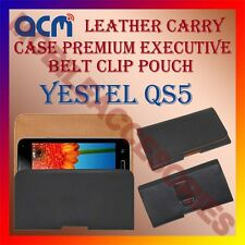 ACM-BELT CASE for YESTEL QS5 MOBILE LEATHER HOLSTER COVER POUCH HOLDER CLIP NEW