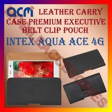 ACM-BELT CASE for INTEX AQUA ACE 4G MOBILE LEATHER HOLSTER POUCH COVER HOLDER