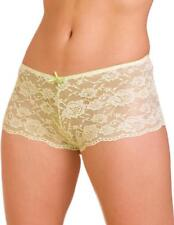 Camille Womens Underwear Lime Green  Lace French Knicker Boxer Shorts Boy Shorts
