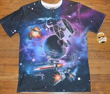 Star Wars Tie Fighter X-Wing Aircraft 2 Sided Graphic T-Shirt Licensed Mens Tee