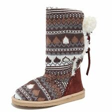 0732M stivali donna marroni SUGAR cardigan sweater scarpe boots shoes women