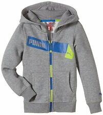 Puma Kinder Sweatjacke Graphic Hooded Sweat Gr. 128 140 152 164 grau UVP 39,95 €