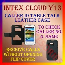 ACM-CALLER ID TABLE TALK CASE for INTEX CLOUD Y13 MOBILE FLIP FRONT/BACK COVER
