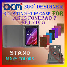 """ACM-DESIGNER ROTATING 360° 7"""" COVER CASE STAND for ASUS FONEPAD 7 FE171CG TABLET"""