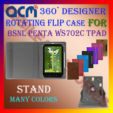 "ACM-DESIGNER ROTATING 360° 7"" COVER CASE STAND for BSNL PENTA WS702C TPAD TABLET"