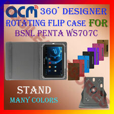 "ACM-DESIGNER ROTATING 360° 7"" COVER CASE STAND for BSNL PENTA WS707C TAB TABLET"