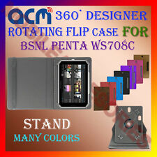 "ACM-DESIGNER ROTATING 360° 7"" COVER CASE STAND for BSNL PENTA WS708C TAB TABLET"
