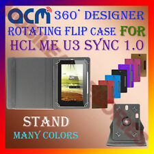"ACM-DESIGNER ROTATING 360° 7"" COVER CASE STAND for HCL ME U3 SYNC 1.0 TAB TABLET"