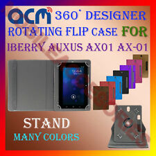 """ACM-DESIGNER ROTATING 360° 7"""" COVER CASE STAND for IBERRY AUXUS AX01 AX-01 TAB"""
