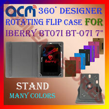 "ACM-DESIGNER ROTATING 360° 7"" COVER CASE STAND for IBERRY BT07I BT-07I 7"" TABLET"