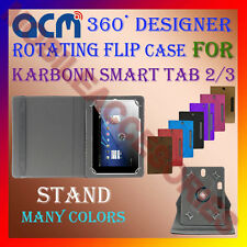 "ACM-DESIGNER ROTATING 360° 7"" COVER CASE STAND for KARBONN SMART TAB 2/3 TABLET"