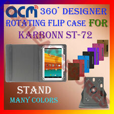 "ACM-DESIGNER ROTATING 360° 7"" COVER CASE STAND for KARBONN ST-72 TAB TABLET NEW"
