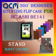 "ACM-DESIGNER ROTATING 360° 7"" COVER CASE STAND for MITASHI BE141 TAB TABLET NEW"