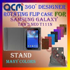 "ACM-DESIGNER ROTATING 360° 7"" COVER CASE STAND for SAMSUNG TAB 3 NEO T111N TAB"
