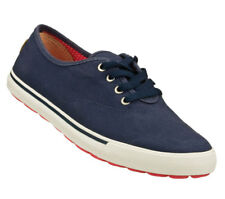 NEW SKECHERS Women Casual Lace-Up Sporty Sneakers Canvas GO VULC - STRAND Navy