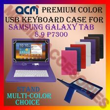 "ACM-USB COLOR KEYBOARD 9"" CASE for SAMSUNG TAB 8.9 P7300 LEATHER COVER STAND NEW"