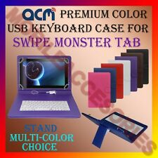 """ACM-USB COLOR KEYBOARD 9"""" CASE for SWIPE MONSTER TAB TABLET LEATHER COVER STAND"""