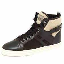 4620N sneaker HOGAN REBEL scarpe donna shoes woman marrone