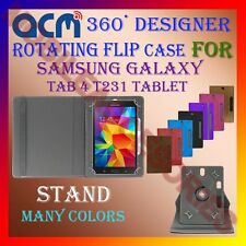 "ACM-DESIGNER ROTATING 360° 7"" COVER CASE STAND for SAMSUNG GALAXY TAB 4 T231 TAB"