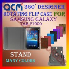 "ACM-DESIGNER ROTATING 360° 7"" COVER CASE STAND for SAMSUNG GALAXY TAB P1000 NEW"