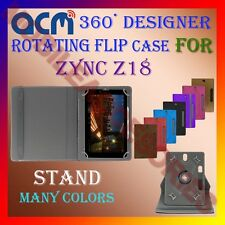 """ACM-DESIGNER ROTATING 360° 7"""" COVER CASE STAND for ZYNC Z18 TABLET TAB PREMIUM"""