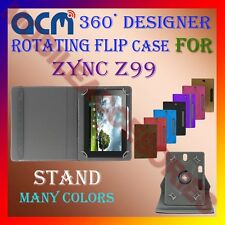 """ACM-DESIGNER ROTATING 360° 7"""" COVER CASE STAND for ZYNC Z99 TABLET TAB PREMIUM"""