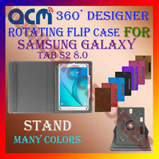 "ACM-DESIGNER ROTATING 360° 8"" COVER CASE STAND for SAMSUNG GALAXY TAB S2 8.0 NEW"
