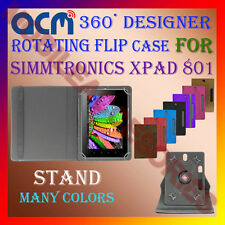 "ACM-DESIGNER ROTATING 360° 8"" COVER CASE STAND for SIMMTRONICS XPAD 801 TABLET"