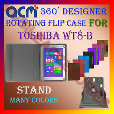 "ACM-DESIGNER ROTATING 360° 8"" COVER CASE STAND for TOSHIBA WT8-B TAB TABLET NEW"