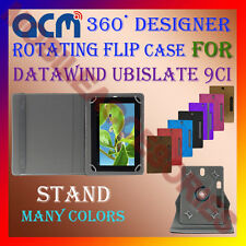 "ACM-DESIGNER ROTATING 360° 9"" COVER CASE STAND for DATAWIND UBISLATE 9CI TABLET"