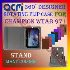 "ACM-DESIGNER ROTATING 360° 10"" COVER CASE STAND for CHAMPION WTAB 971 TAB TABLET"