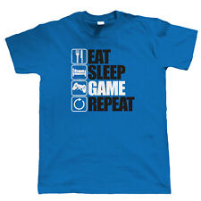 Eat Sleep Game Repeat, Gaming T Shirt, PC Gamer Video Game Gift for Him Gamer