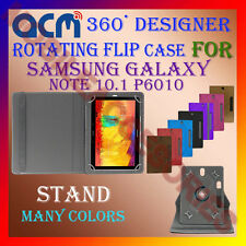 """ACM-DESIGNER ROTATING 360° 10"""" COVER CASE STAND for SAMSUNG NOTE 10.1 P6010 TAB"""
