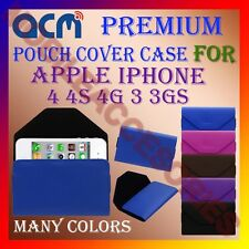 ACM-PREMIUM POUCH LEATHER CARRY CASE for APPLE IPHONE 4 4S 4G 3 3GS MOBILE COVER