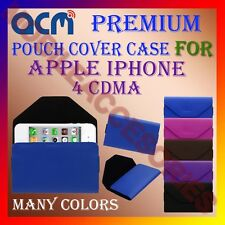 ACM-PREMIUM POUCH LEATHER CARRY CASE for APPLE IPHONE 4 CDMA MOBILE COVER HOLDER