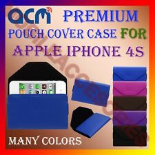 ACM-PREMIUM POUCH LEATHER CARRY CASE for APPLE IPHONE 4S MOBILE COVER HOLDER NEW