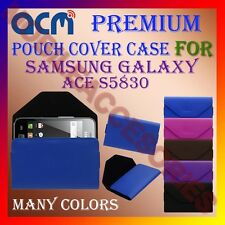ACM-PREMIUM POUCH LEATHER CARRY CASE for SAMSUNG GALAXY ACE S5830 MOBILE COVER