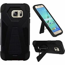 New Tough Dual Layer Hybrid Kickstand Cover Case for Samsung Galaxy S7 / S7 Edge