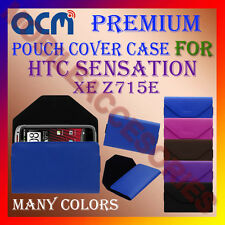 ACM-PREMIUM POUCH LEATHER CARRY CASE for HTC SENSATION XE Z715E MOBILE COVER