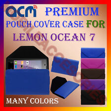 ACM-PREMIUM POUCH LEATHER CARRY CASE for LEMON OCEAN 7 MOBILE COVER HOLDER NEW